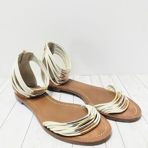 Tory Burch Ivory Mignon Rings Sandals